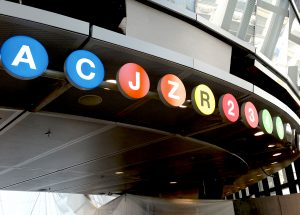 Fulton Center Transportation Wayfinding Systems NYC