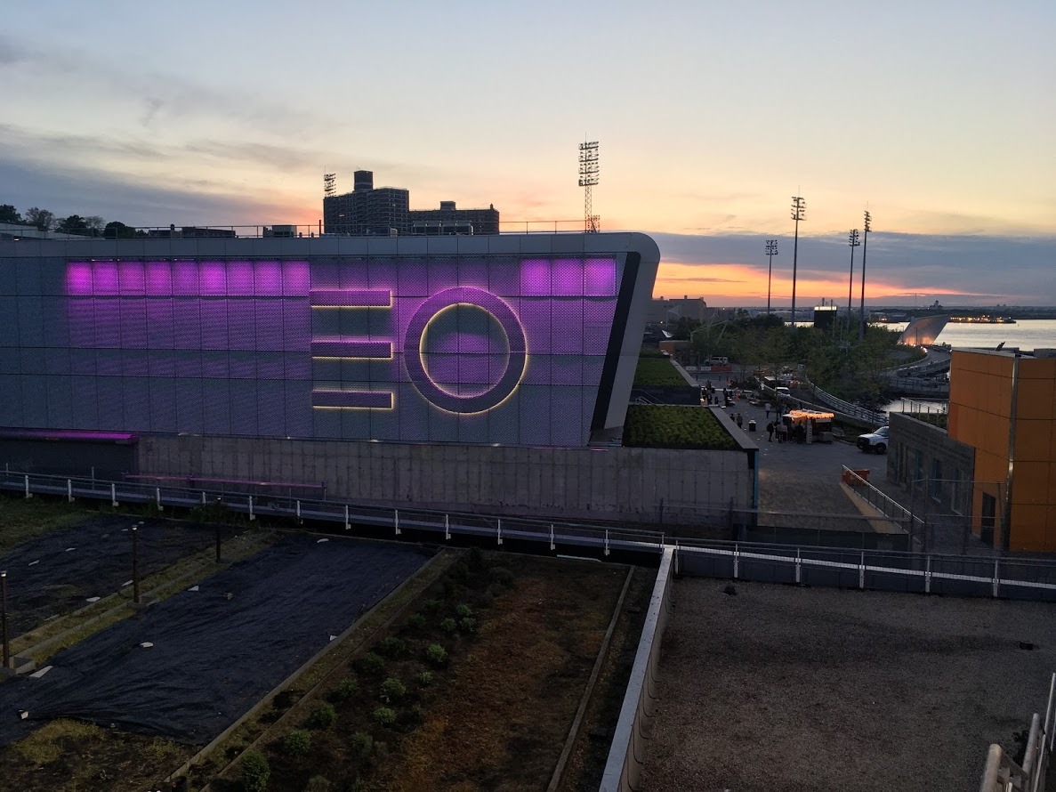 SD Works Empire Outlets Architectural Metal and Glass Signage NYC