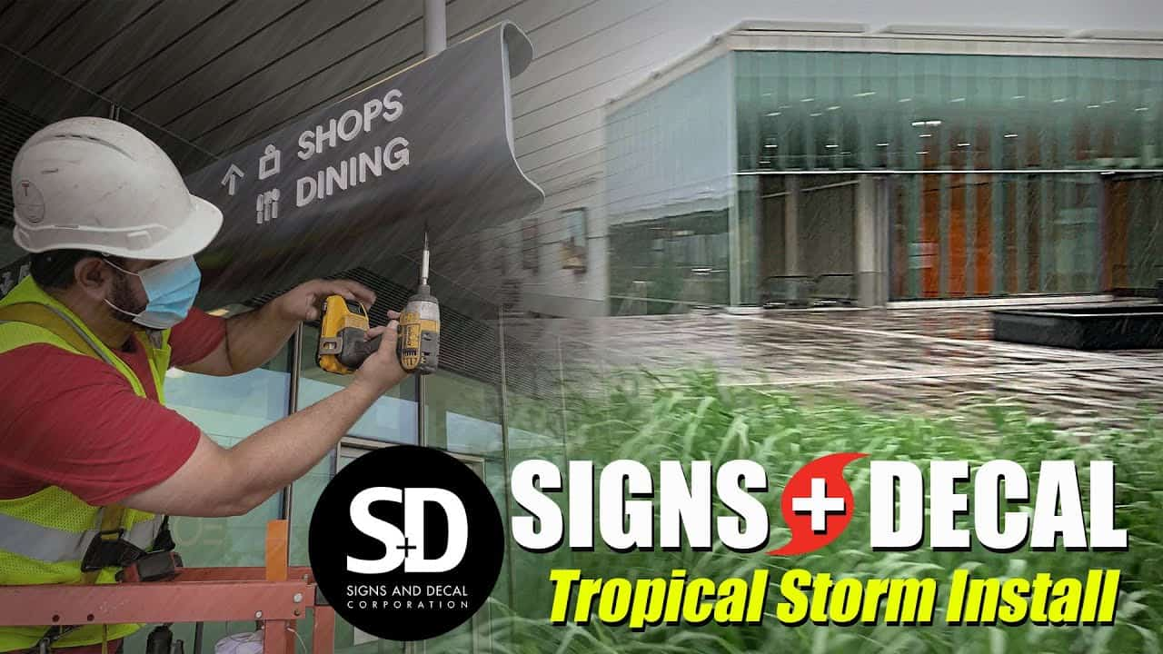 Signs and Decal Installing Retail Totem Sign Wayfinding Solutions NYC
