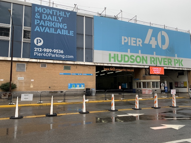 Signs and Decal Hudson River Park Trust – Pier 40 Banner removal