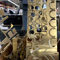SD Works Scrap Brass Architectural Signage NYC